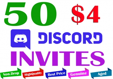 Buy 50 Discord Invites to Your Server