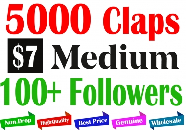 Buy 5000+ Medium Claps for 1 Article & 100+ Followers.