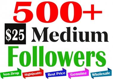 Buy 500+ Medium Follo. to Your Account