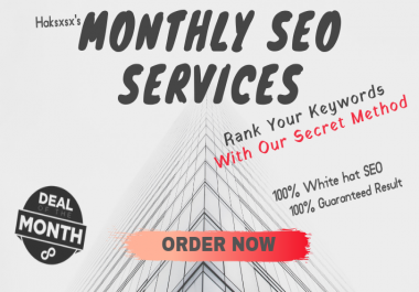 Monthly SEO Service For Up to 3 Keywords (w/ Refund Guarantee If Keywords Don't Move)