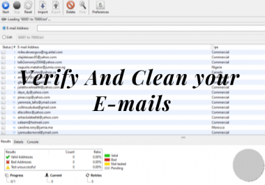 Clean and Verify 1 to 30,000 Email lists