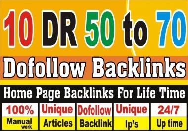 make 10 High DR 50 to 70 pbn backlinks