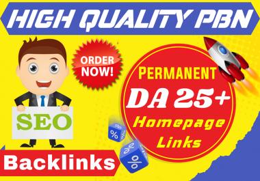 I will provide 10 High DA 25+ Pbn Backlinks