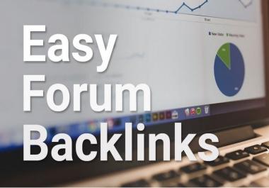 Manual create 40 high DA+ Forum Profile Backlinks