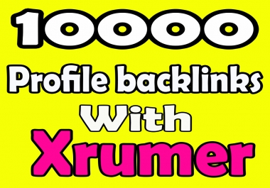 10000 forums profiles Backlinks With Xrumer to get fastest ranking effects