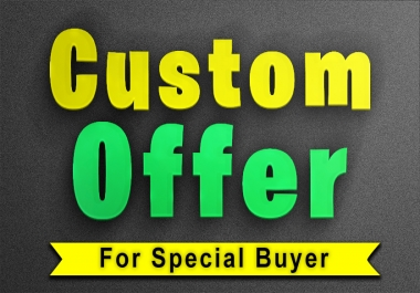 Special offer for my old clients who are repeated and it is created for discount offers