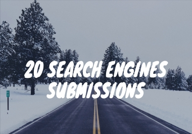 Submit your Website to top 20 Search Engines including Google & Bing