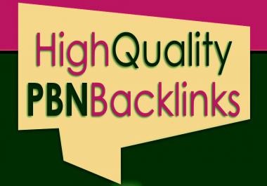 Build 10 High PA DA TF CF HomePage PBN Backlins for Your site's For$9