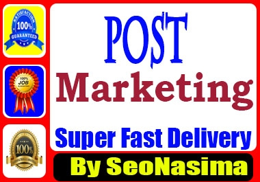 Post Markting Promotion Your Post Organic