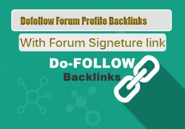 Best 100 Signature backlink from High PR forum