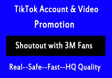 Fast TikTok Video Account Promotion Via Social Accounts Views