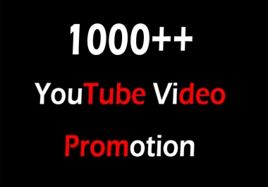 YouTube Video Promotion and marketing within 24 Hours