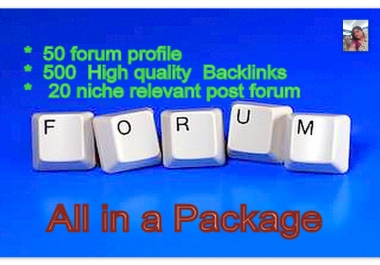 Rank up Your Website on Google By High Quality Back links (50 profile + 500 post+ 20 niche post)