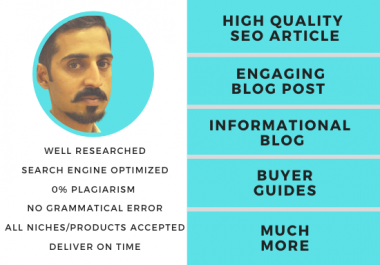 Write a high quality SEO article or engaging blog post content