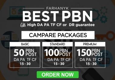 50 permanent high da or pa dofollow pbn backlink for SEO ranking