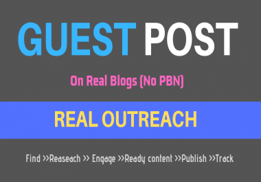 Targeted Blogger Outreach Service - Guest Post On Niche Related Blogs