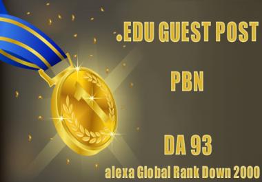 1 PBN EDU Guest Posts DA93 Dofollow