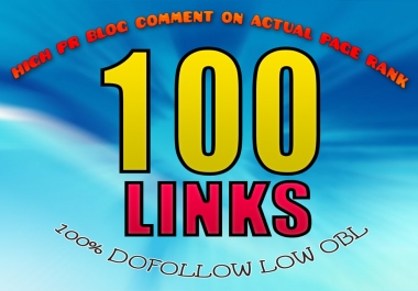 I will do manually 100 blog comments with dofollow da links