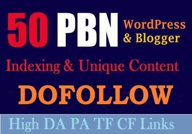 50 Contextual PBN Blog Post From Blogger & WordPress With Drip Feed INDEX quality backlinks