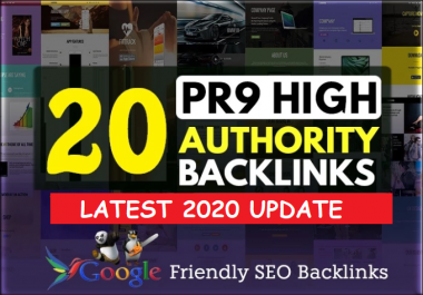20 PR9 80+DA Manual High Quality Permanent SEO Backlinks to increase your Google ranking