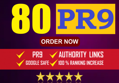 Manual 80 Backlinks From:PR9/Forum/Social Media/Web2/Article Submission Links for Boost web Ranking