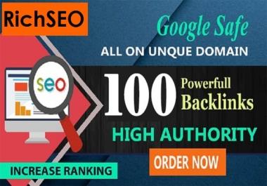 100 PR9 Backlinks 80+DA Unique Domains 2020 GOOGLE Update Most Evaluate Manual Site