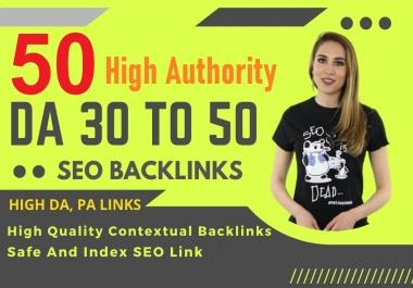 50-High Authority UNIQUE Domains Keyword Base Contextual Link-Building Service collaboration Google