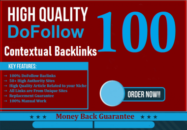 Constantly 100 Contextual High Authority Backlinks Analyze Google 1st Ranking
