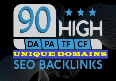 Exclusively 90 Manual SEO Backlinks On DA PA 100 Unique Domains Safe Link-Building