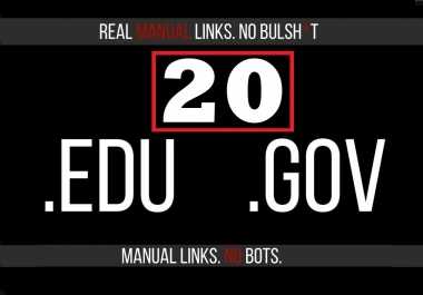 Perfect 20 Edu/Gov.Safe SEO Backlinks create Google Ranking your Website