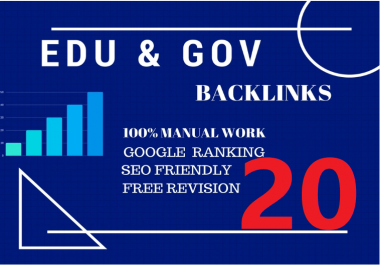 Perfect 20 Edu/Gov.Safe SEO Backlinks create Google Ranking your Website