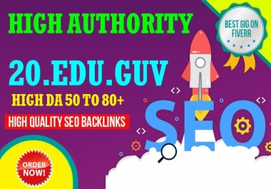 Get 20 .Edu .Gov UNIQUE Domains Safe SEO Backlinks For boost 1st ranking
