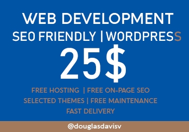 Complete Wordpress SEO friendly website For your business