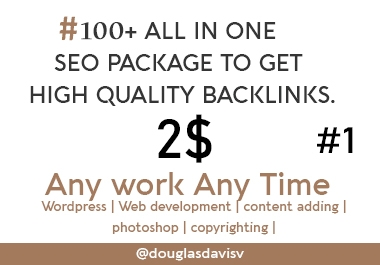100+ All Time Best SEO Package To Get High Quality Backlinks Manual Work