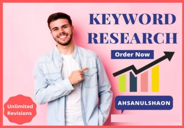I will do complete SEO keyword research for google rank
