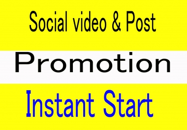 I will do instant promote organic social post and video