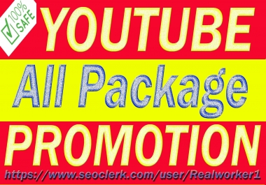 Real YouTube Video And Chanel Promotion Via Genuine Audience