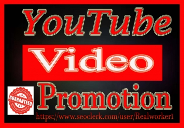 Natural YouTube Video promotion High Retention Audience Super Fast