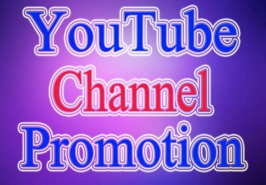 I Will Do YouTube Chanel Promotion Via Real Account