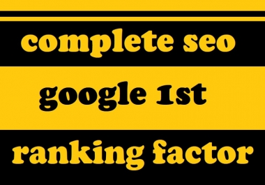 Top rank and complete seo optimization for your website