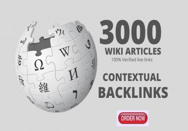 3,000 High quality wiki Backlinks from Wiki site