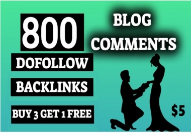 800 Blog comments Do Follow backlinks