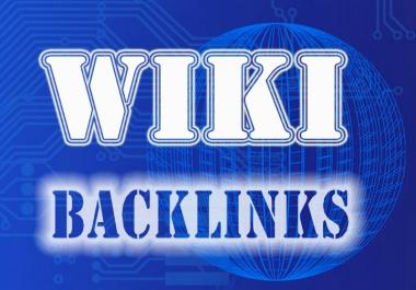 150 high quality wiki Backlinks