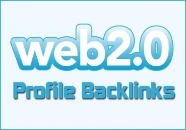 High quality 800 Web 2.0 profiles Backlinks