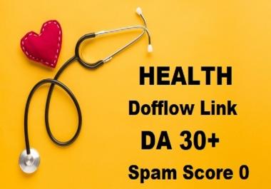I will Guest Post DA 30 Health Site