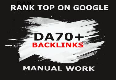 50 Back links DA 70+ Boost Your Google Rankings