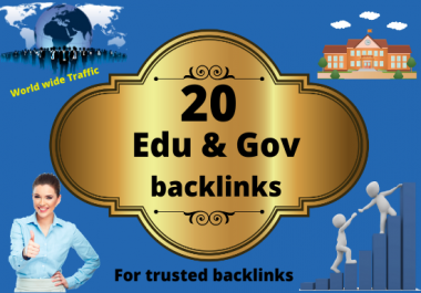 20 Edu & Gov backlinks in high authority sits