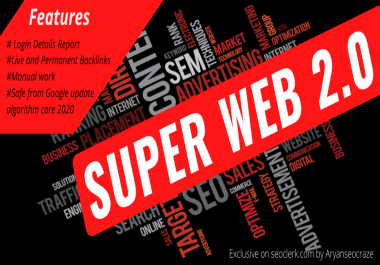I will build Super Web 2.0 blog seo Backlink with login details report