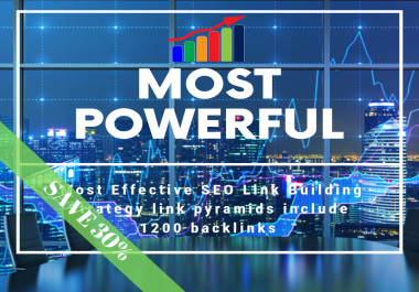 Most Effective SEO Link Building Strategy link pyramids include 1200 backlinks