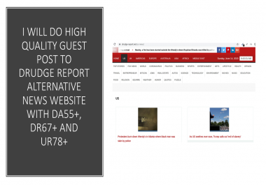 I will write and publish high quality SEO guest post on my DA55+, DR70+&UR79+ news website
